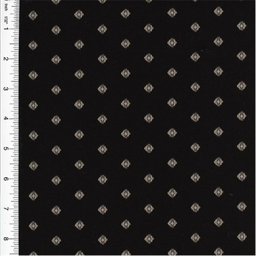 (Designer Cotton Black Foulard Print Home Decorating Fabric, Fabric By the Yard)