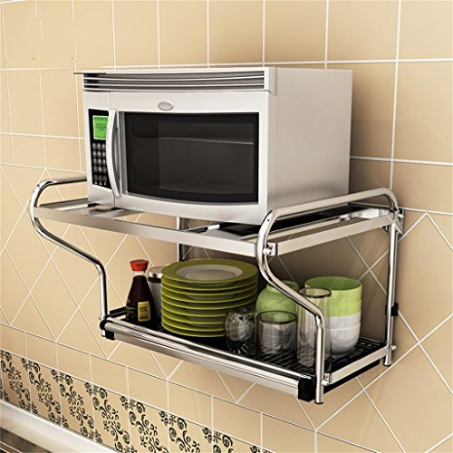 Rack Shelf Stainless Steel Microwave Oven Rack Wall Hanging Wall On The Wall Kitchen Shelf Oven Rack Pendant Pylon