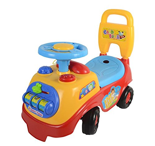 LIVIVO ® My First Ride On and Push Along Buggy Car Colourful First Steps Toddler Walker Learning Toy with Sounds and Accessories (Red)