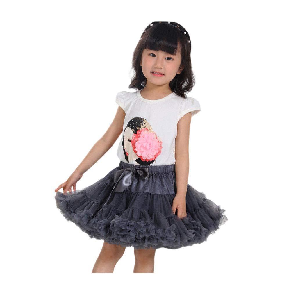 Fosheng Girls Tutu Skirt Princess Dancing Dress Casual Tulle Ballet Pettskirt