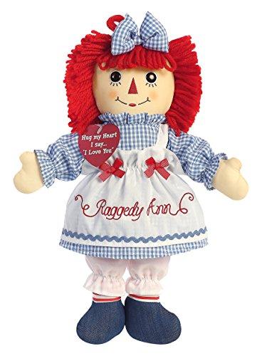 Aurora World Raggedy Ann Plush Toy, Red/Blue/White ()