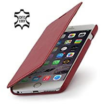 StilGut® Book Type Leather Case without Clip for Apple iPhone 6 Plus (5.5''), Red