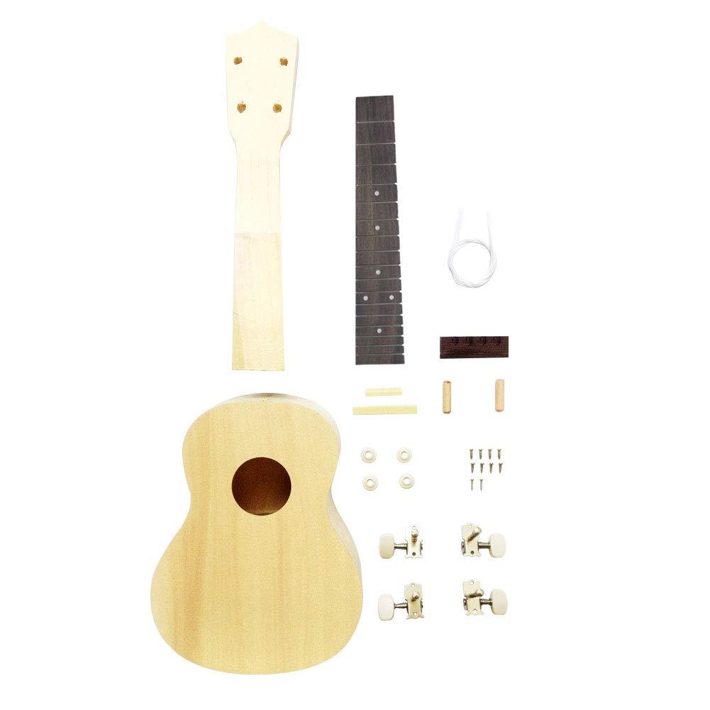 B01EPPS1VA Zimo DIY Ukulele Make Your Own Ukulele Hawaii Ukulele Kit (23inch) 519pN19PpaL