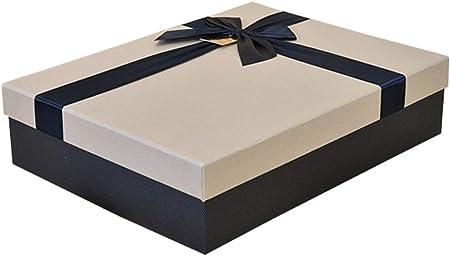 Caja de Regalo Rectangular de San Valentín Material de cartón Verde Decoración de Lazo de Seda para la Fecha de la Fiesta de cumpleaños (Tamaño : S(27×20×5cm)): Amazon.es: Hogar