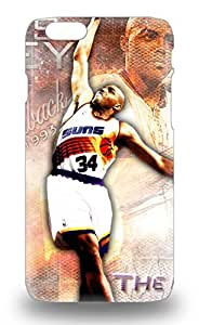 Awesome Design NBA Philadelphia 76ers Charles Barkley #34 Hard Case Cover For Iphone 6 3D PC Soft Case