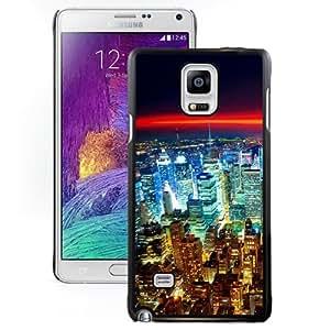 Fashionable Custom Designed Samsung Galaxy Note 4 N910A N910T N910P N910V N910R4 Phone Case With Seattle Night City Lights Red Horizon_Black Phone Case