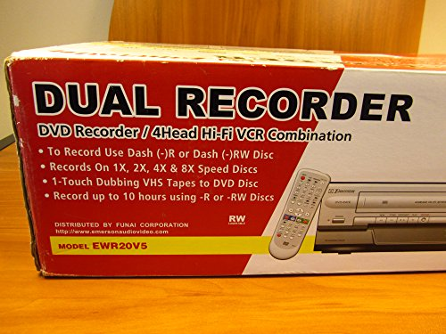 - Limited qty Emerson EWR20V5 DVD Recorder/VCR Combo