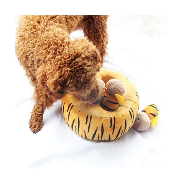 IFOYO Squeaky Dog Toys, Durable Hide and Seek Puzzle Plush Interactive Dog Toys for Medium/Small Dogs, Pets 4