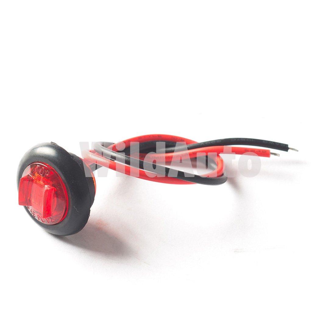 Feux De C/ôt/é WildAuto 10 pcs 30 V LED Feux De Gabarit Pour Remorques,Moto Fils et Grommet 3//4 Pouce Feux De D/égagement Universel 10 V Camions Clair
