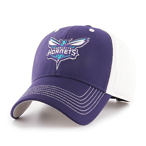 OTS NBA Charlotte Hornets Sling All-Star MVP Adjustable Hat, Purple, One Size, (Charlotte Cap)