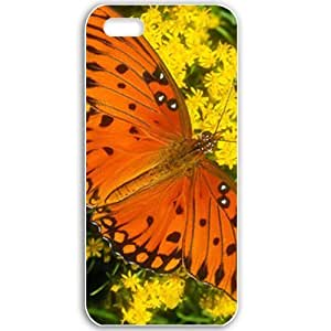 Apple iPhone 5 5S Cases Customized Gifts For Animals Gulf Fritillary Normal Birds Animals Black