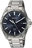 Seiko Men's Blue Dial Solar Watch (Model:SNE483)