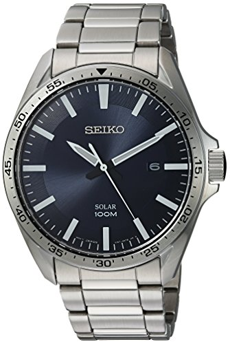 (Seiko Men's Sport Watches Japanese-Quartz Stainless-Steel Strap, Silver, 20 (Model: SNE483))