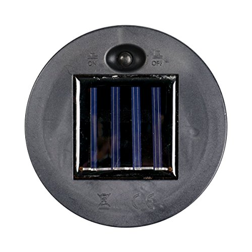 Exhart Blue Solar Lantern - Glass Tear-Shaped Hanging Lantern - Teardrop Glass Ceiling Lantern Hangs in a Metal Cage w/ 12 Blue LED Firefly Solar Lights 7'' L x 7'' W x 24'' H by Exhart (Image #3)