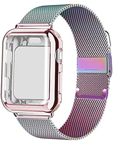5aa9407dced01 GBPOOT Compatible for Apple Watch Band 38mm 40mm 42mm 44mm with Screen  Protector Case, Sports