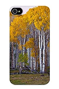 Ideal Angelfouho Case Cover For Iphone 4/4s(autumn Deciduous Forest), Protective Stylish Case