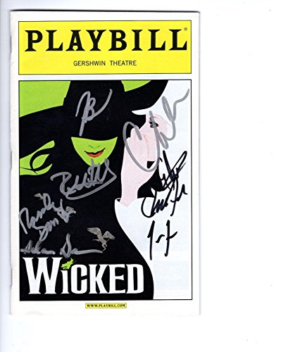 Wicked Hand Signed Ny City Playbill+Coa Signed By 2012 Cast Awesome - City Cast Signed