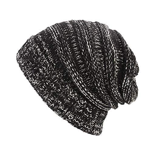 Byyong Women Ladies Retro Soft Stretch Winter Knitting Hat Turban Brim Hat Cap ()