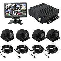 TrackSec  4 Channel AHD 720P H.264 Mobile DVR Recorder with G-sensor Car Black Box Kit, Black (VTK161A)