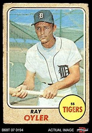 Amazoncom 1968 Topps 399 Ray Oyler Detroit Tigers Baseball Card