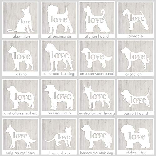 Dog & Cat Breed Silhouette Car Window Vinyl Decal/Sticker - Can be Personalized (Print ()