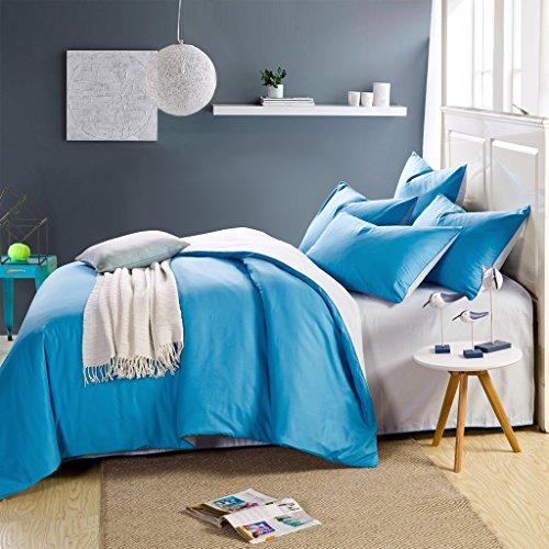 InfiniteS Duvet Set 100 Cotton Reversible Solid Color Soft D
