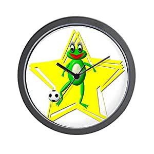 "CafePress - Girls Soccer Ms Frog - Unique Decorative 10"" Wall Clock"