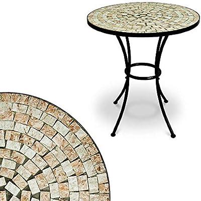 Deuba Mesa mosaico Bilbao Ø60cm redonda con azulejos altura 70cm muebles de jardín terraza balcón interior y exterior: Amazon.es: Hogar