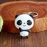 1 Pack Panda Cartoon Keychain Pendants Women Keys Hook Hooks Keyfob Luxurious Popular Pocket Teenagers Bag Car Keyrings