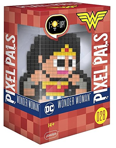 Amazonian Warrior Princess Costume (PDP Pixel Pals DC Comics Wonder Woman Collectible Lighted Figure, 878-029-NA-WWN)