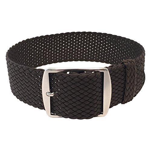 Wrist And Style Perlon Watch Strap - Dark Brown | 20mm