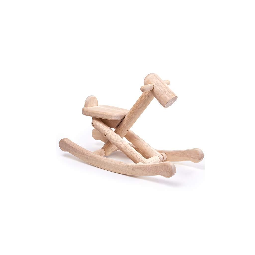 Lxrzls Wooden Rocking Horse Toy-Kid Rocking Toy-Kid Rocking Horse/