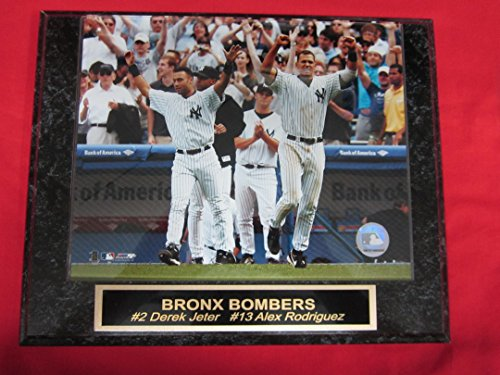 Alex Rodriguez 8x10 Photograph - Yankees Derek Jeter Alex Rodriguez Collector Plaque w/8x10 Color Photo
