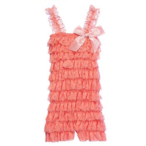 Cutie Baby Baby Girls' Lace Ruffle Romper