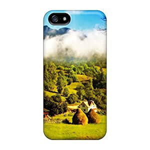 Tpu Fashionable Design Farmers House Rugged Case Cover For Iphone 5/5s New