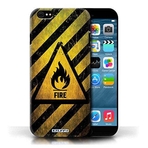KOBALT® Hülle Case für Apple iPhone 6/6S | Feuer/Entzündliche Entwurf | Warnung Zeichen Kollektion