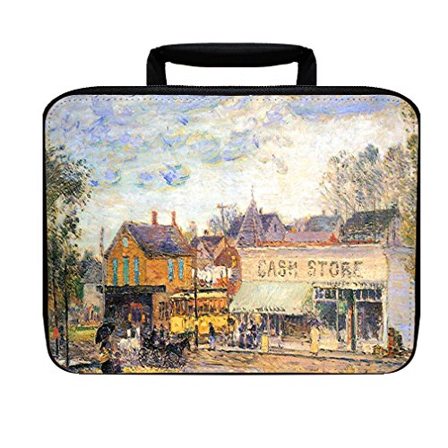 End Of Tram Oak Park Illinois (Hassam) Insulated Lunch Box Bag (Winter Park Oaks)