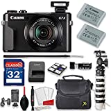 Canon PowerShot G7 X Mark II 20.1MP 4.2x Optical Zoom Digital Camera Kit + 32GB High Speed Memory Card + Extra Battery + Professional Accessory Bundle
