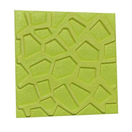2Pcs PE Foam 3D Self-Adhesive Wall Stickers Decor Tile Waterproof Wall -