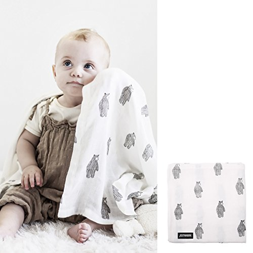 Dono & Dono All About Sleep for Baby Silky Smooth Bamboo Cuddle Blanket 41 x 41 inch, Big Bear