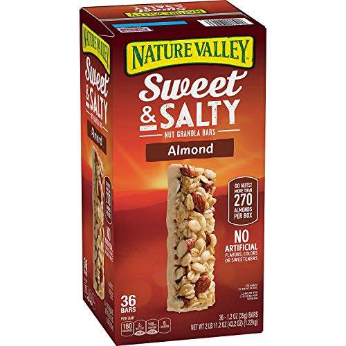 Nature Valley Sweet and Salty Nut Almond Granola Bars, 36 Count