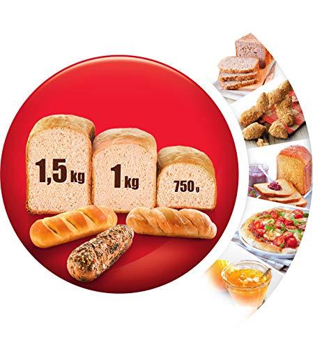 Moulinex OW6101 Home Bread Baguette Macchina del Pane con 16 Programmi Preimpostati, Capacità Extra fino a 1.5 kg,1650 W… 5