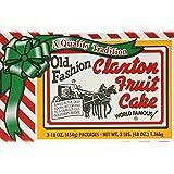 FRUIT CAKE Boxed 3-1lb Regular Recipe Claxton Fruitcake