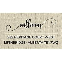 Calligraphy return address stamp - 1E