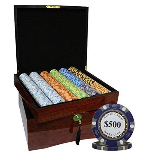 希少 黒入荷! MRC Carlo 750pcs MRC Monte Carlo Poker Poker Club Casino Poker ChipsセットwithハイGloss木製ケースカスタム構築 B01D7SO1I8, いとや:1415dd31 --- arianechie.dominiotemporario.com
