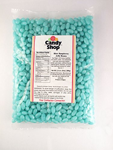 Candy Shop Light Blue Raspberry Flavored Jelly Beans - 2 Lb Bag (Bean Jelly Crafts)