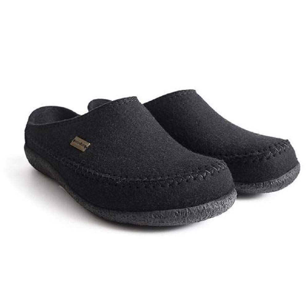 HAFLINGER Unisex Fletcher Wool Clogs, Black, 41EU by Haflinger