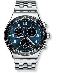 Swatch Mens Irony YVS423G Silver Stainless-Steel Swiss Quartz Watch