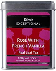Dilmah Exceptional Rose with French Vanilla Loose Leaf Caddy, 100 Grams