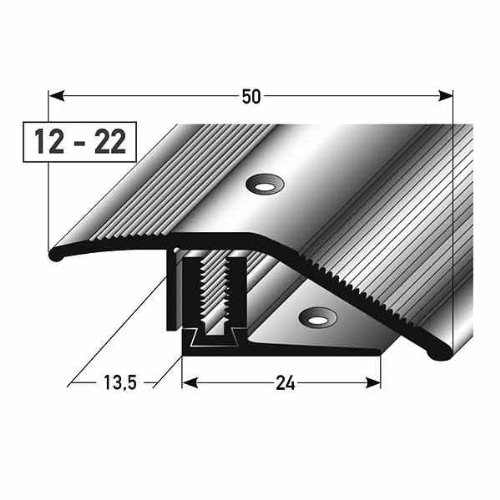 33 mm breit 15 mm 2-teilig gebohrt Alu eloxiert /Übergangsprofil Laminat/ Parkett// /Übergangsleiste 5 x 1 m H/öhe 7 5 Meter
